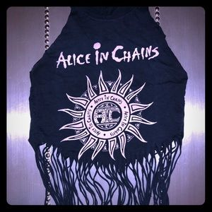 Alice In Chains Custom Crop top